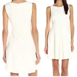 Nanette Lepore White Boucle Tweed Dress 10